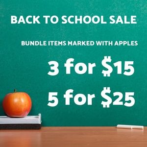🍎 BACK TO SCHOOL SALE 🍎